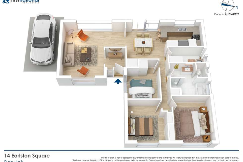 Floorplan of Homely house listing, 14 Earlston Square, Berwick VIC 3806