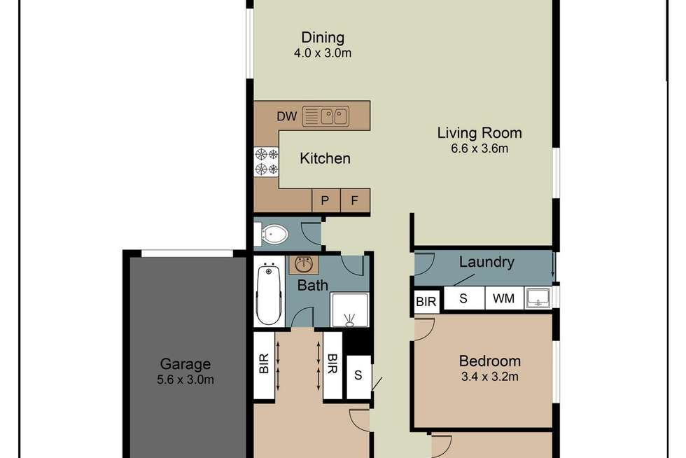 Floorplan of Homely house listing, 9 Alpine Gardens, Caroline Springs VIC 3023
