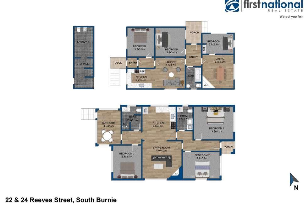 Floorplan of Homely house listing, 22-24 Reeves Street, South Burnie TAS 7320