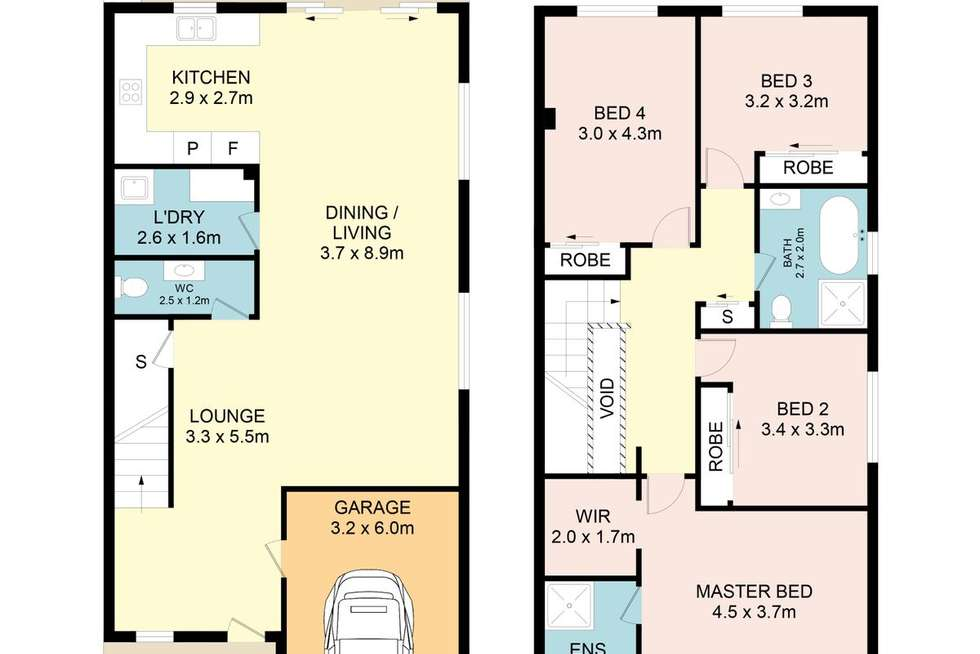 Floorplan of Homely semiDetached listing, 15A Higgins St, Condell Park NSW 2200