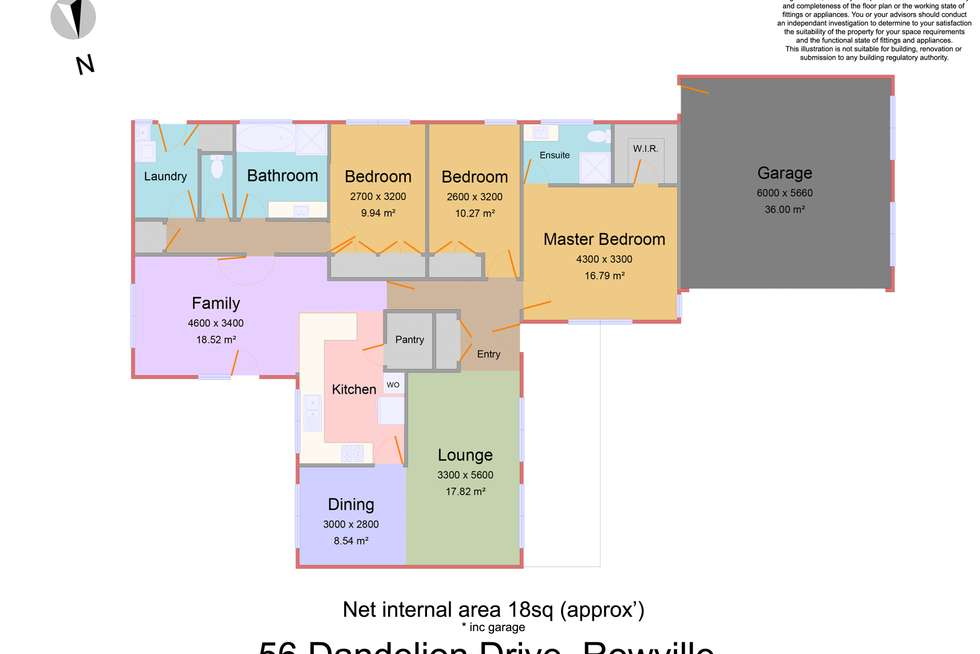 Floorplan of Homely house listing, 56 Dandelion Drive, Rowville VIC 3178