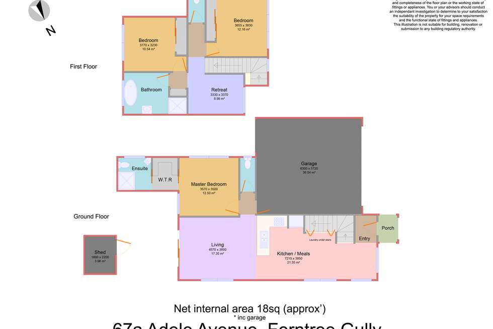 Floorplan of Homely townhouse listing, 67A Adele Avenue, Ferntree Gully VIC 3156