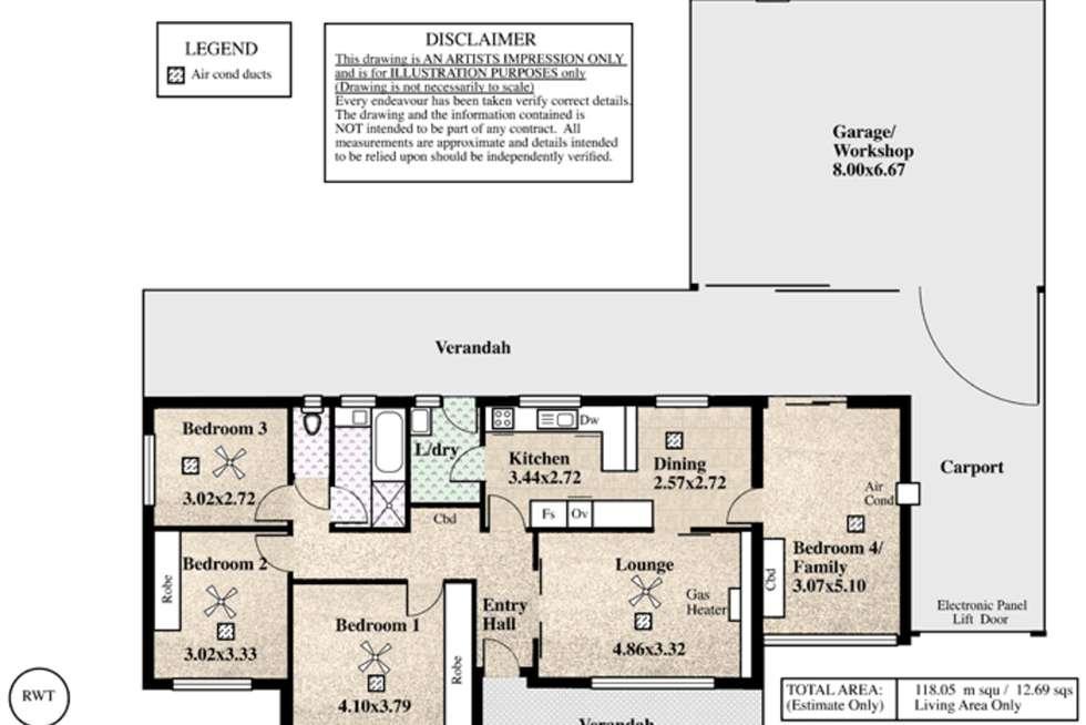 Floorplan of Homely house listing, 33 Sutherland Avenue, Semaphore Park SA 5019