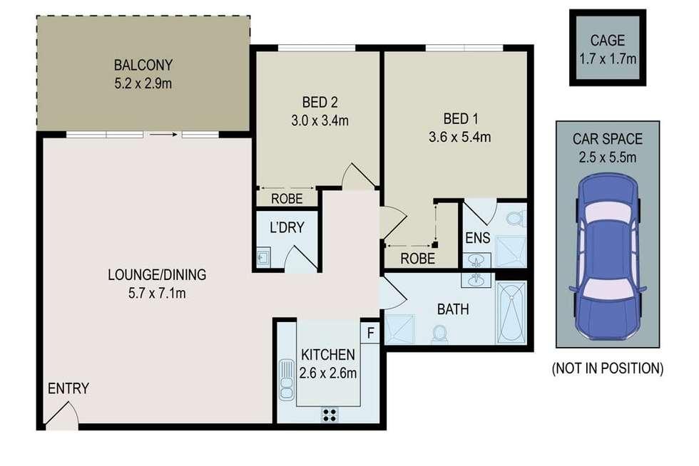 Floorplan of Homely apartment listing, 43/28 Brickworks Drive, Holroyd NSW 2142