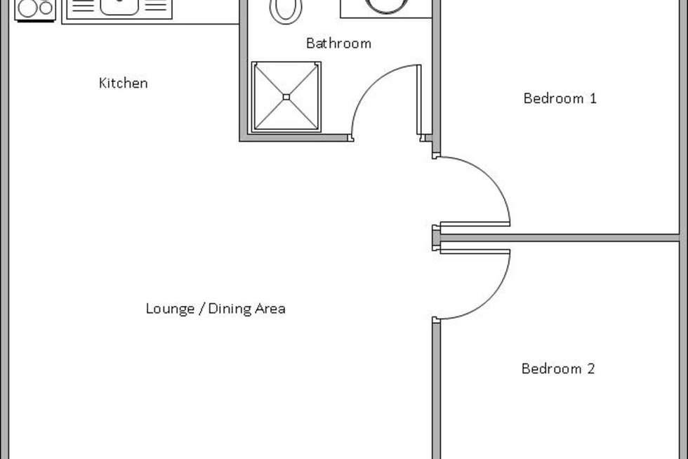 Floorplan of Homely unit listing, 2/14 Gillerton Terrace, Edithburgh SA 5583