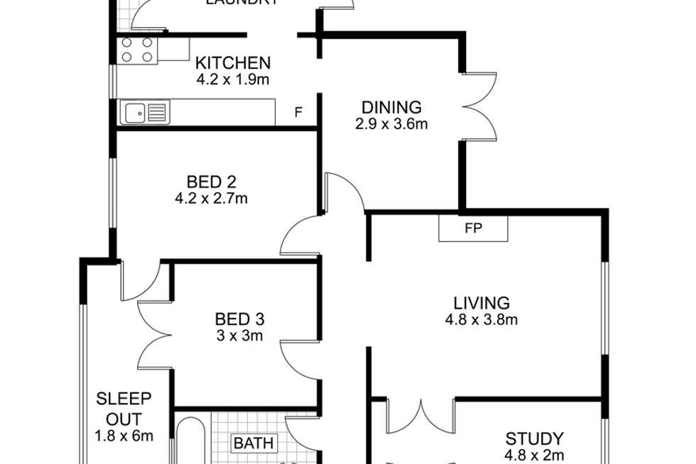 Floorplan of Homely house listing, 6 Lind Street, Newmarket QLD 4051