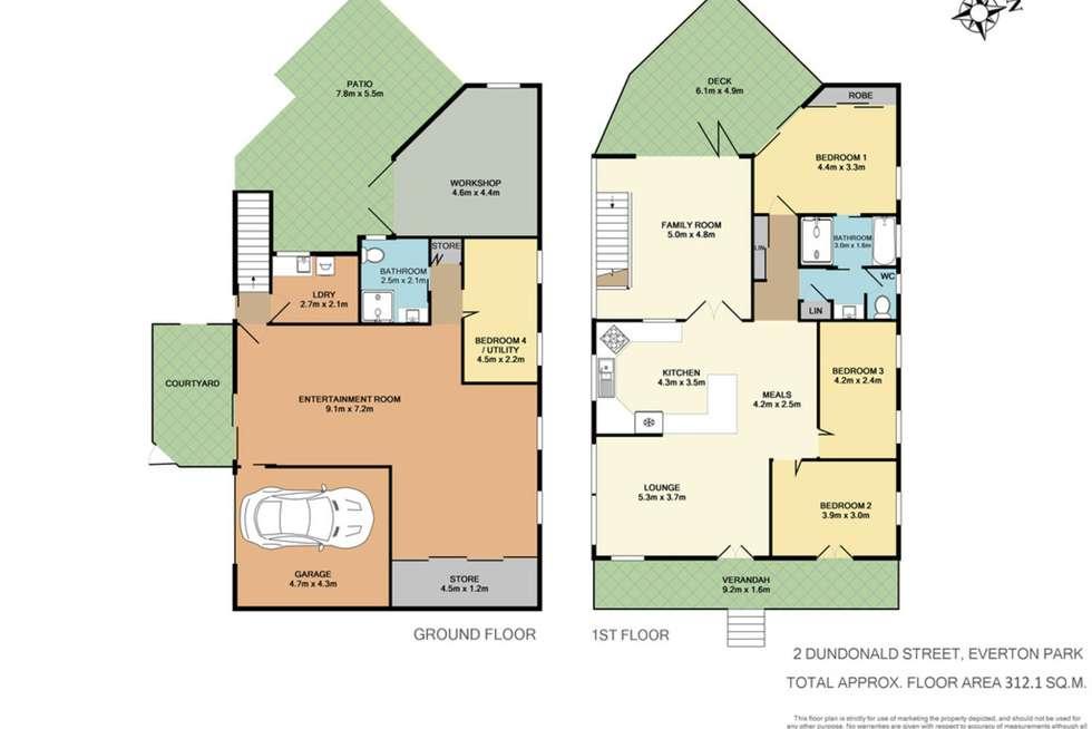 Floorplan of Homely house listing, 2 Dundonald Street, Everton Park QLD 4053