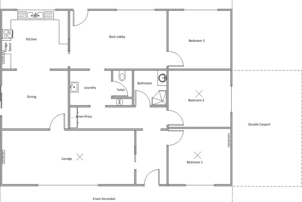 Floorplan of Homely house listing, 19 Blanche Street, Edithburgh SA 5583