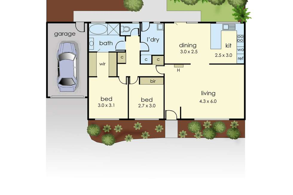 Floorplan of Homely unit listing, 2/26 Young Street, Drouin VIC 3818