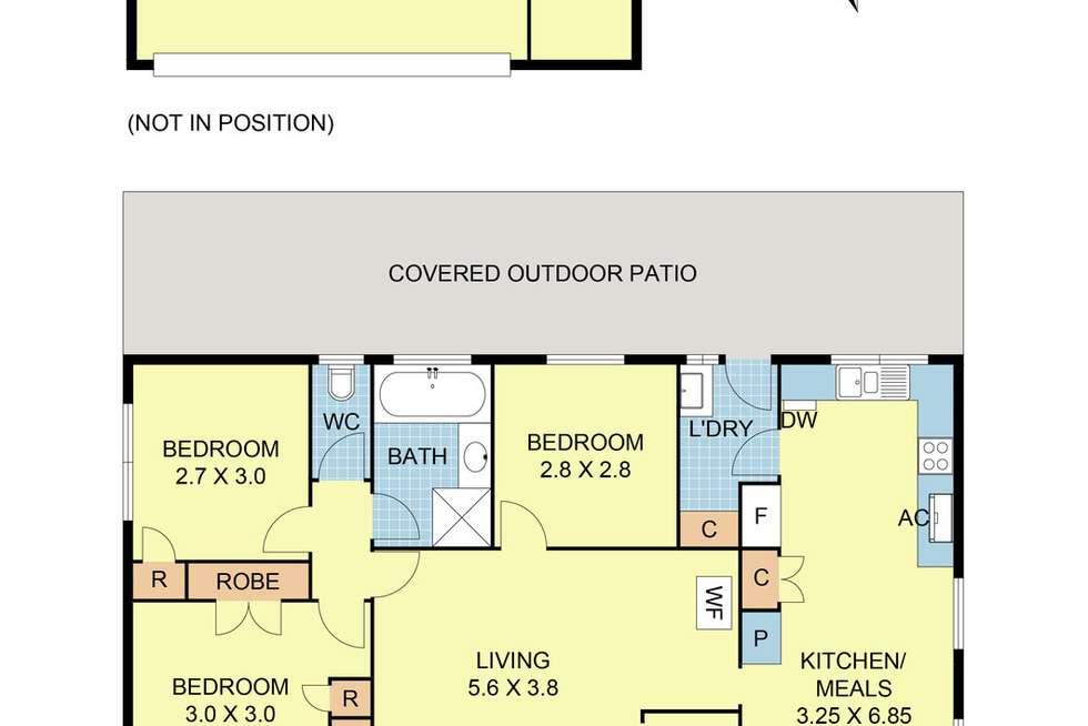 Floorplan of Homely house listing, 3 Honeysuckle Walk, Croydon South VIC 3136