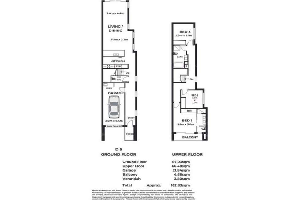 Floorplan of Homely townhouse listing, 1/36 Clement Terrace, Christies Beach SA 5165