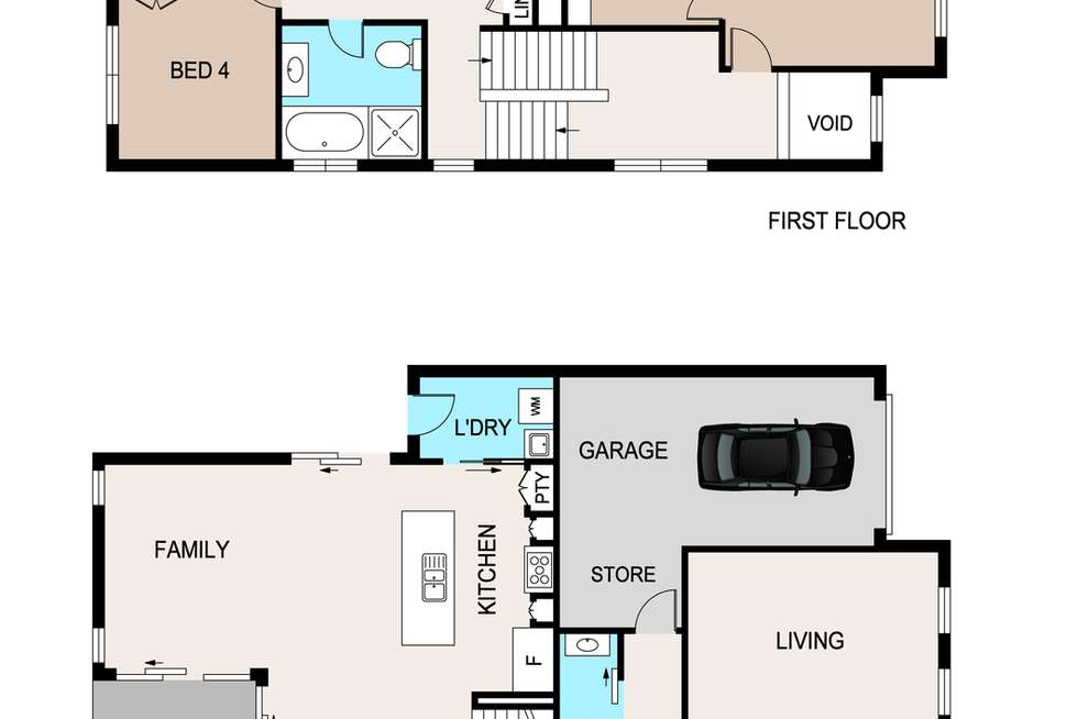 Floorplan of Homely house listing, 33 Thorpe Way, Box Hill NSW 2765