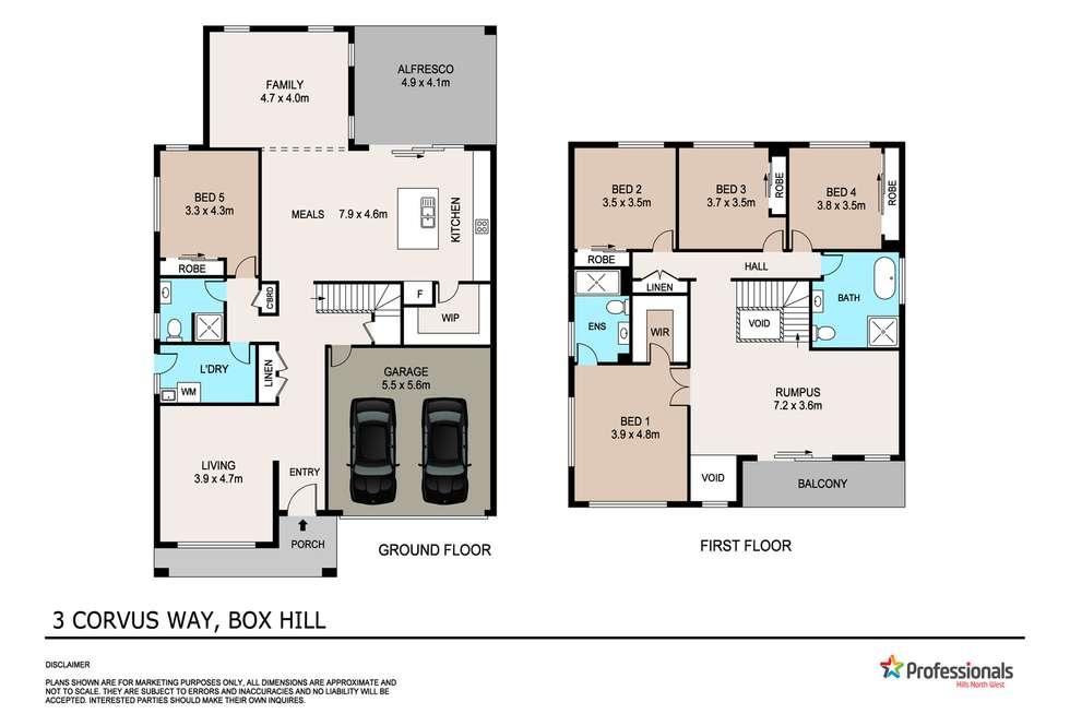 Floorplan of Homely house listing, 3 Corvus Way, Box Hill NSW 2765