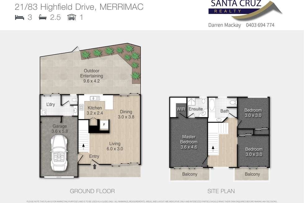 Floorplan of Homely townhouse listing, 21/83-89 Highfield Drive, Merrimac QLD 4226