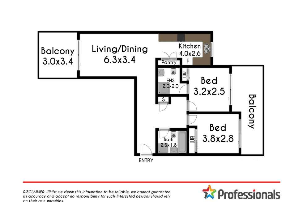 Floorplan of Homely unit listing, 25/1-5 Durham Street, Mount Druitt NSW 2770
