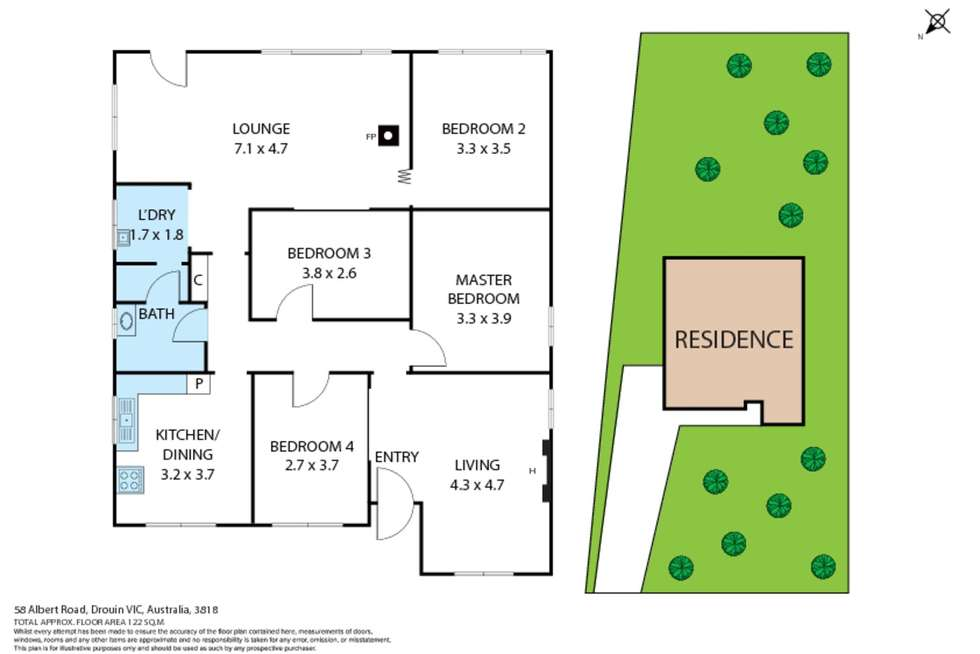 Floorplan of Homely house listing, 58 Albert Road, Drouin VIC 3818