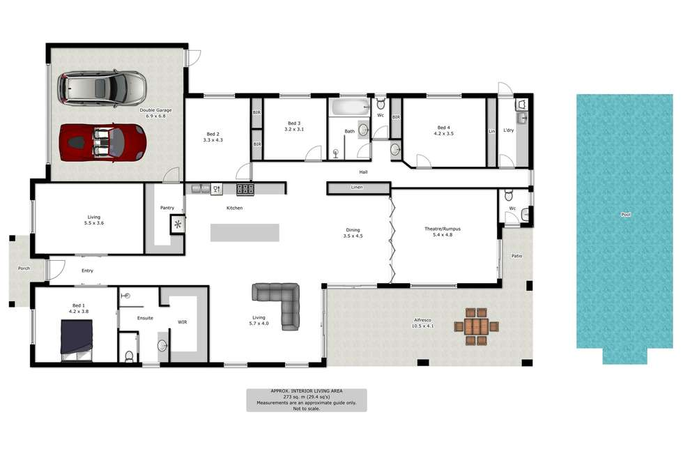 Floorplan of Homely house listing, 27 Cleeland Court, Wodonga VIC 3690