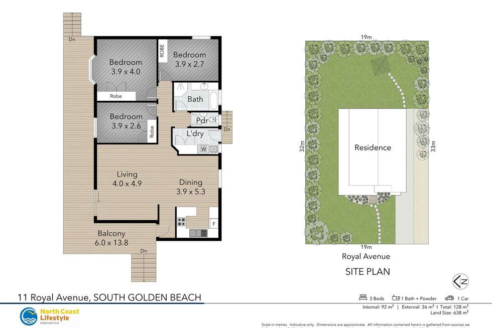 Floorplan of Homely house listing, 11 Royal Avenue, South Golden Beach NSW 2483