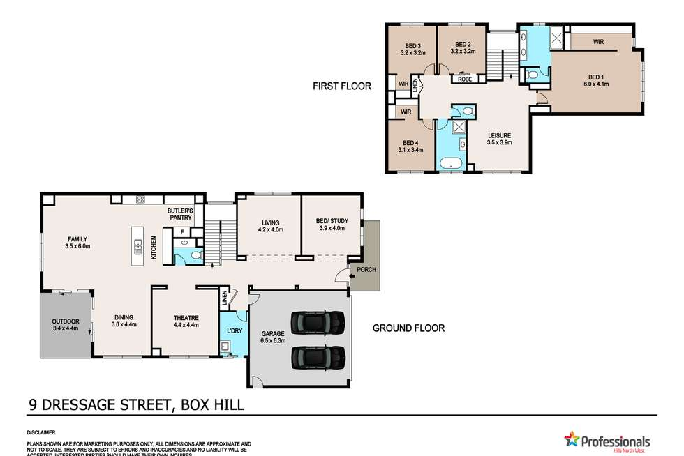 Floorplan of Homely house listing, 9 Dressage Street, Box Hill NSW 2765