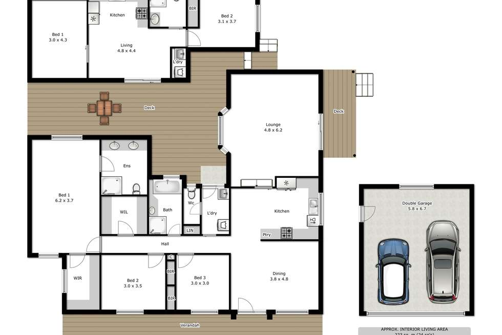Floorplan of Homely house listing, 35 Gayview Drive, Wodonga VIC 3690
