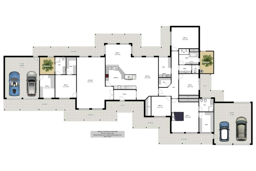 Floorplan of Homely house listing, 7 Glen Avon Terrace, Wodonga VIC 3690