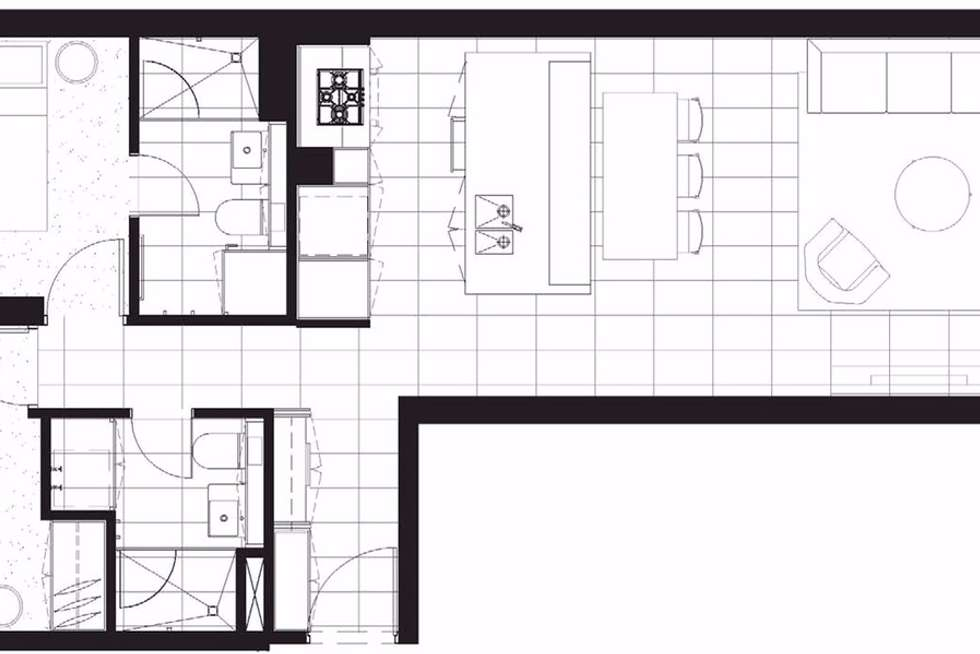 Floorplan of Homely apartment listing, 106/87 Roden Street, West Melbourne VIC 3003