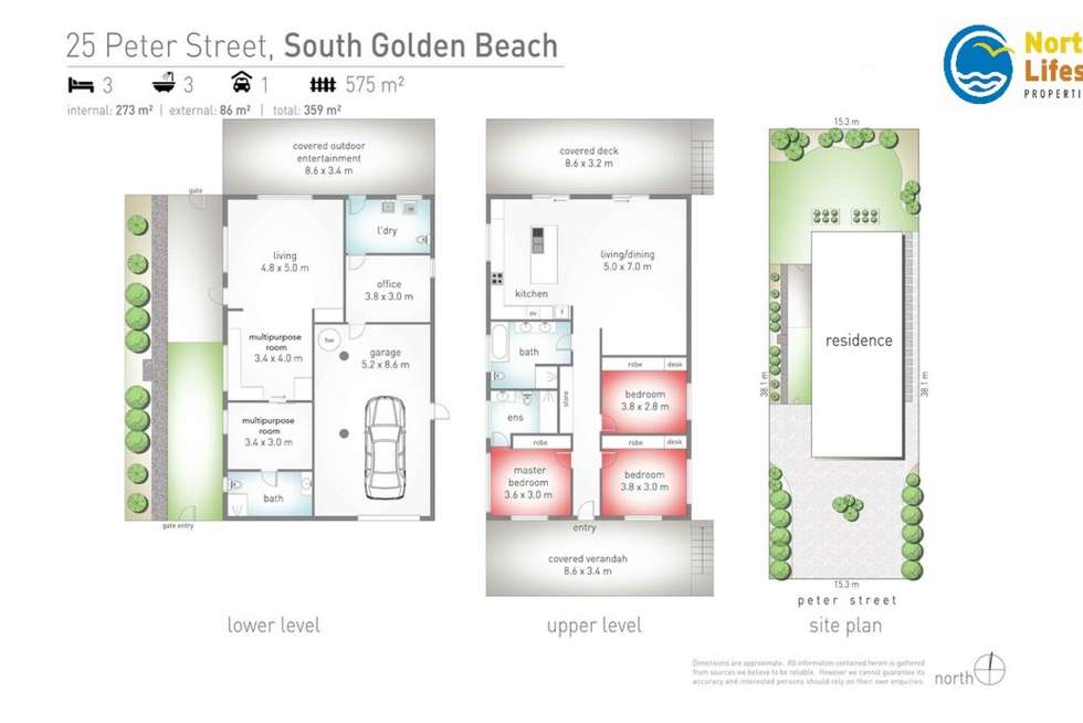 Floorplan of Homely house listing, 25 Peter Street, South Golden Beach NSW 2483