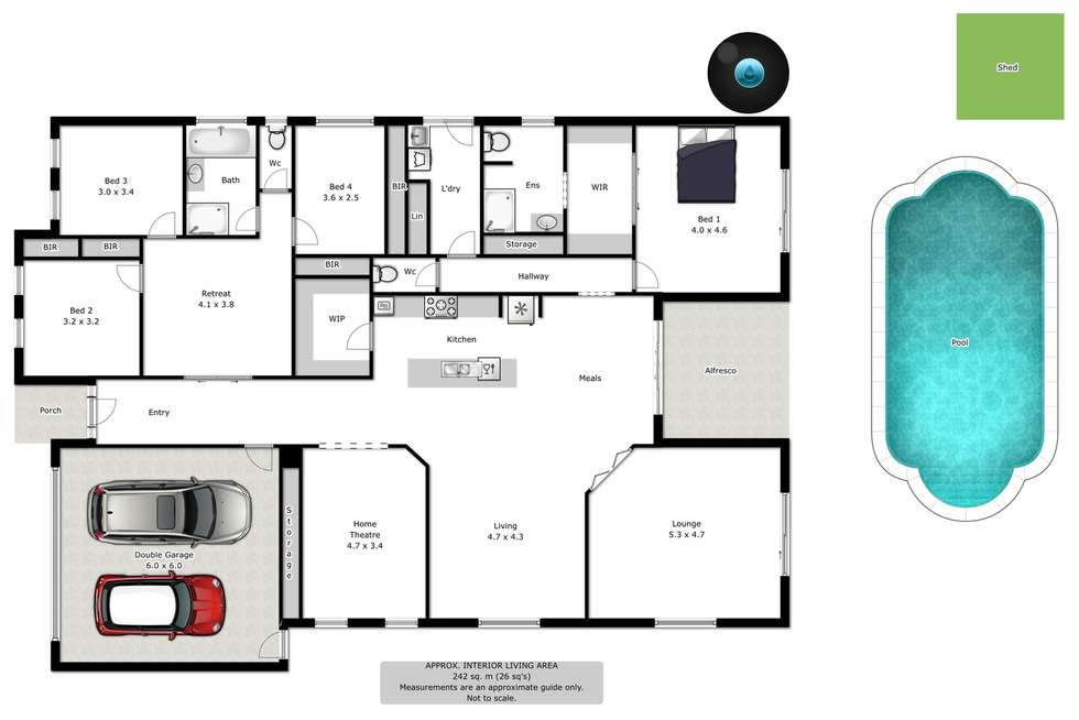 Floorplan of Homely house listing, 15 Scarborough Drive, Wodonga VIC 3690