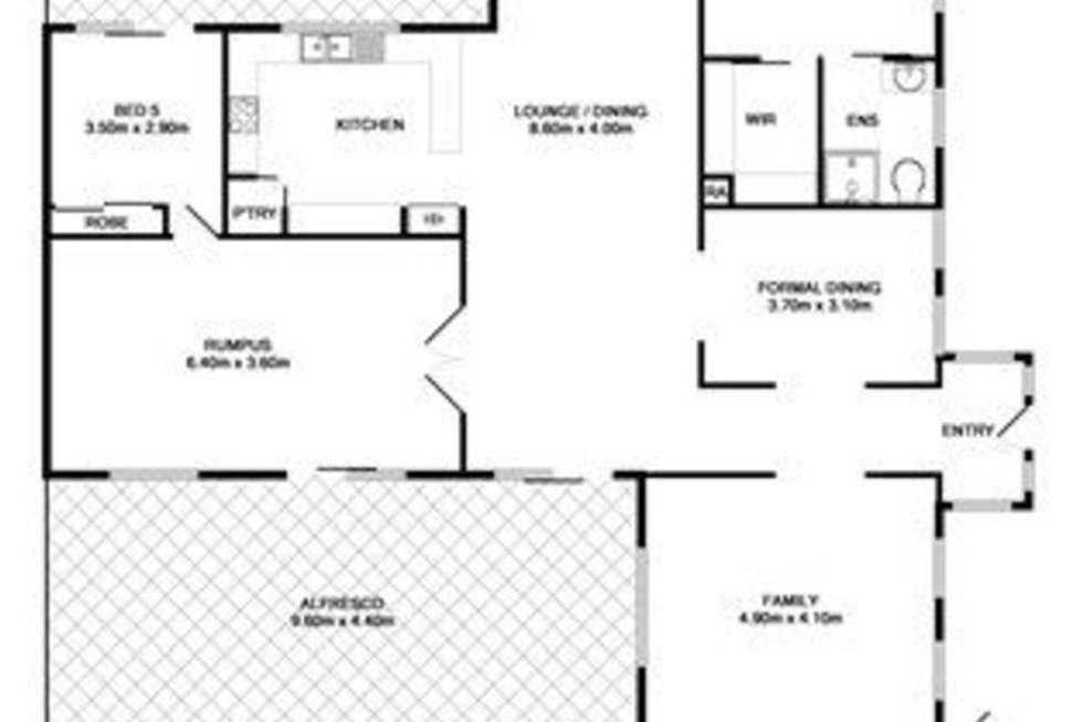 Floorplan of Homely house listing, 7 Cromer Fairway, Wodonga VIC 3690