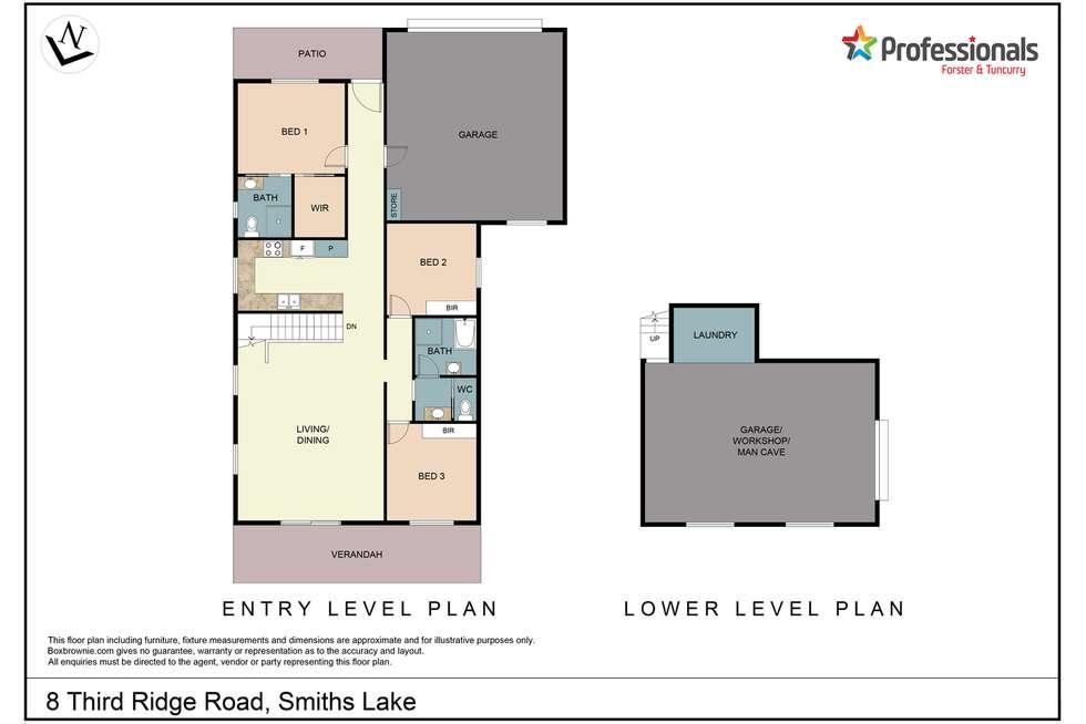Floorplan of Homely house listing, 8 Third Ridge Road, Smiths Lake NSW 2428