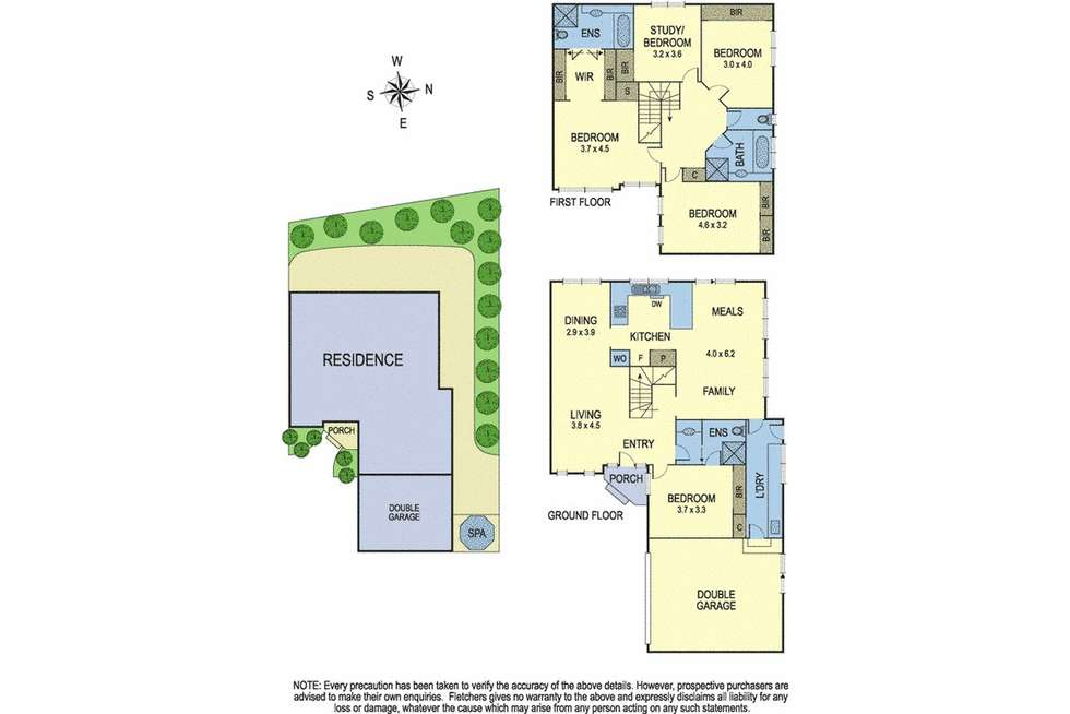 Floorplan of Homely townhouse listing, 6/1-3 Frank Street, Doncaster VIC 3108