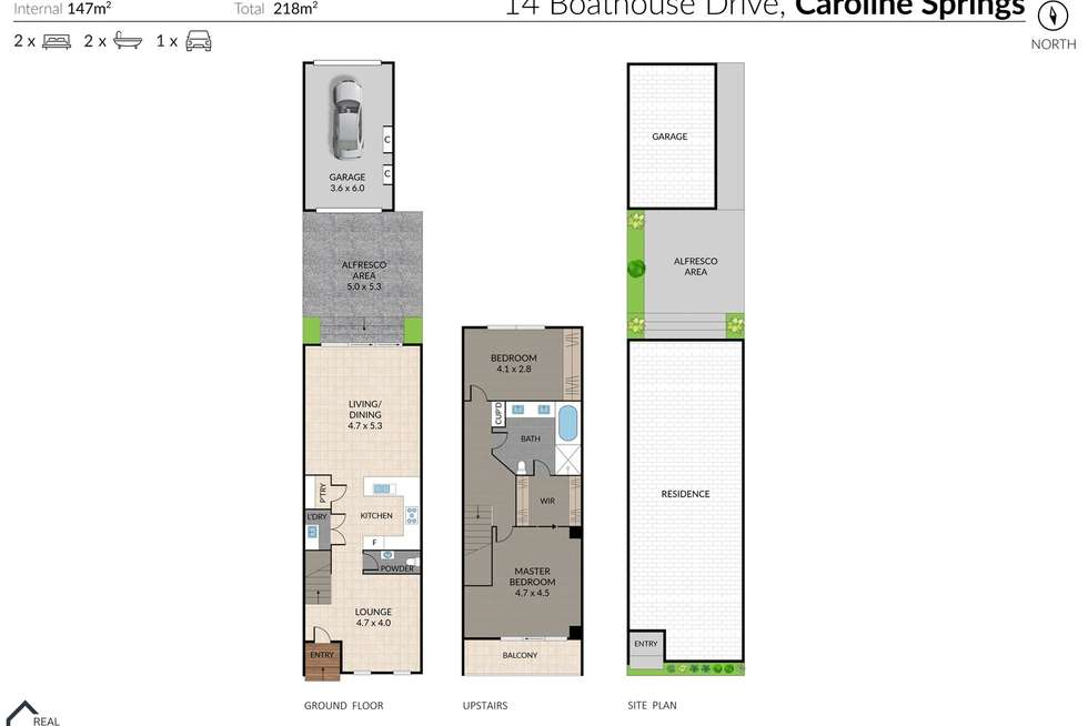 Floorplan of Homely house listing, 14 Boathouse Drive, Caroline Springs VIC 3023