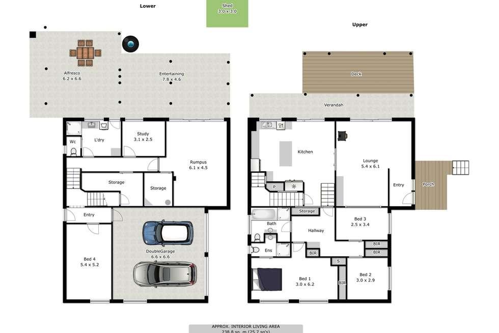 Floorplan of Homely house listing, 13 Warwick Road, Wodonga VIC 3690