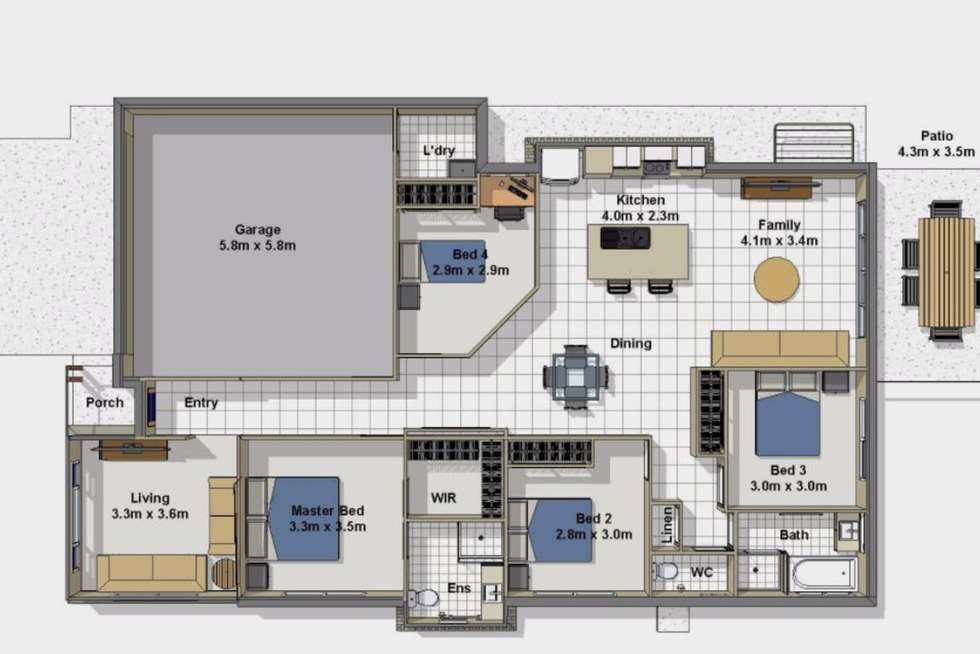 Floorplan of Homely house listing, 23 Maurie Pears Crescent, Pimpama QLD 4209