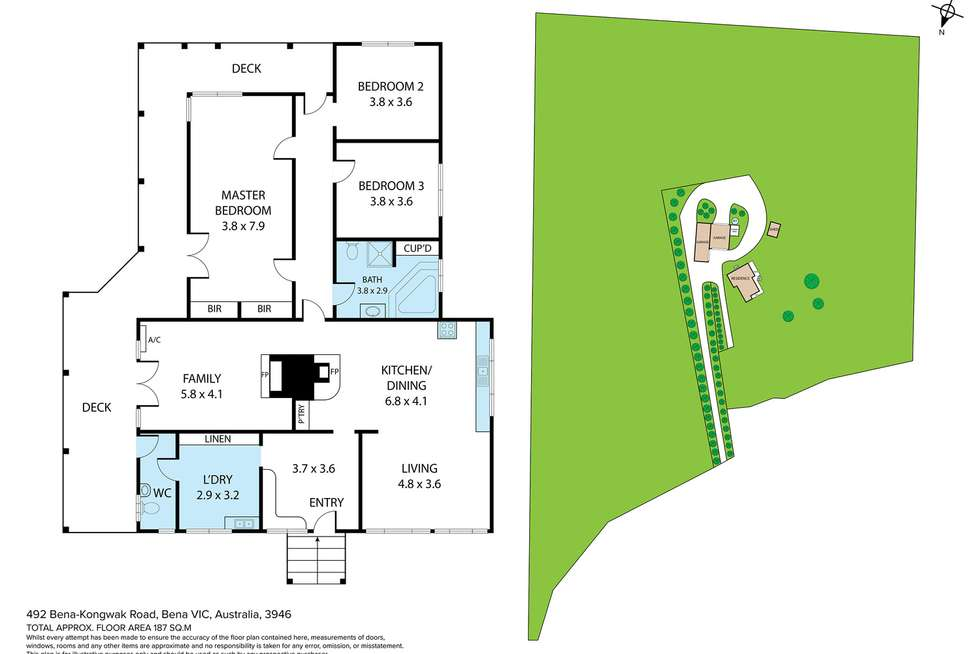 Floorplan of Homely lifestyle listing, 492 bena kongwak Road, Bena VIC 3946