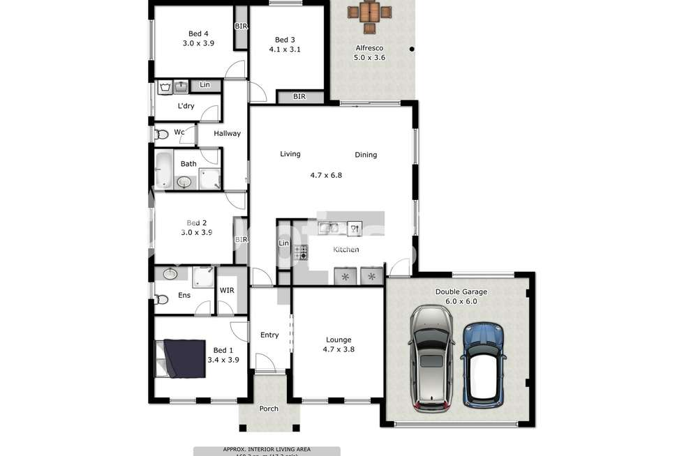 Floorplan of Homely house listing, 10 Millar Court, Wodonga VIC 3690