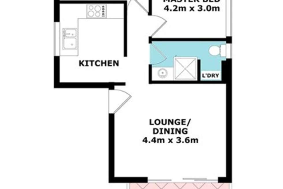 Floorplan of Homely unit listing, 1/193 Kent Street, New Farm QLD 4005