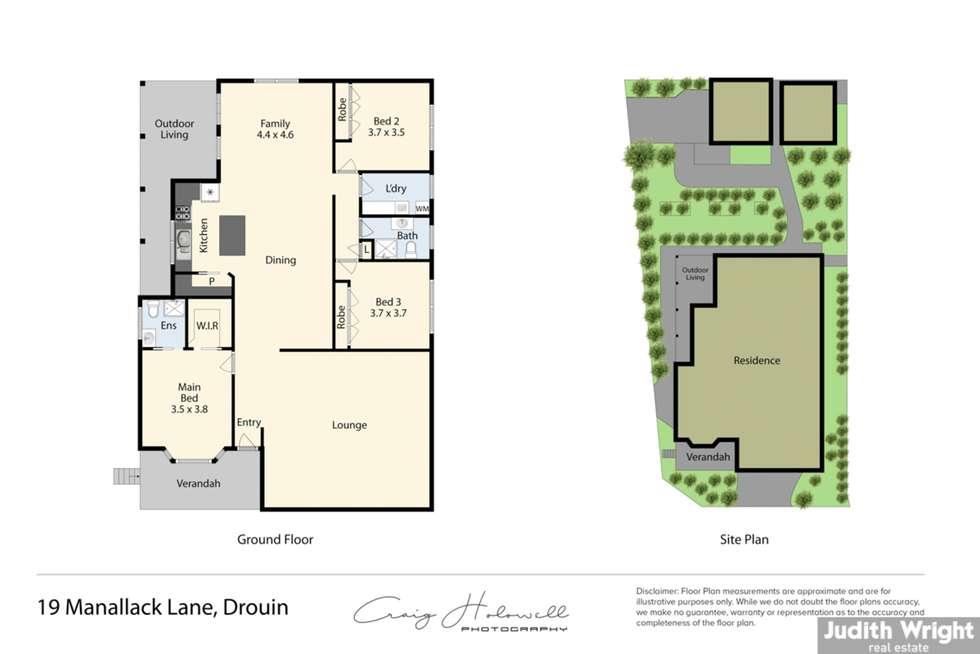 Floorplan of Homely house listing, 19 Manallack Lane, Drouin VIC 3818