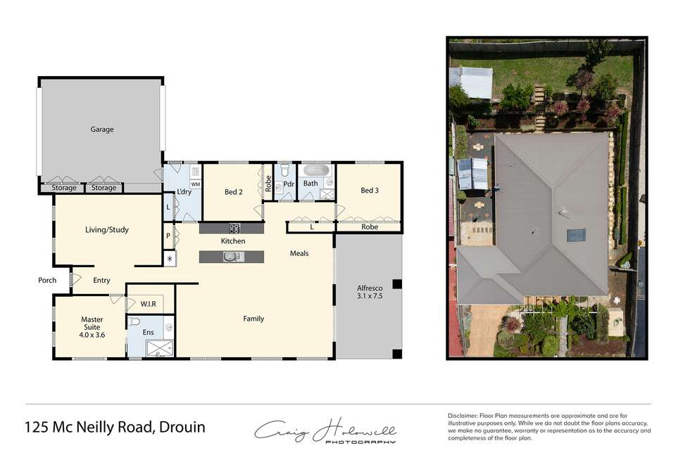 Floorplan of Homely house listing, 125 McNeilly Road, Drouin VIC 3818