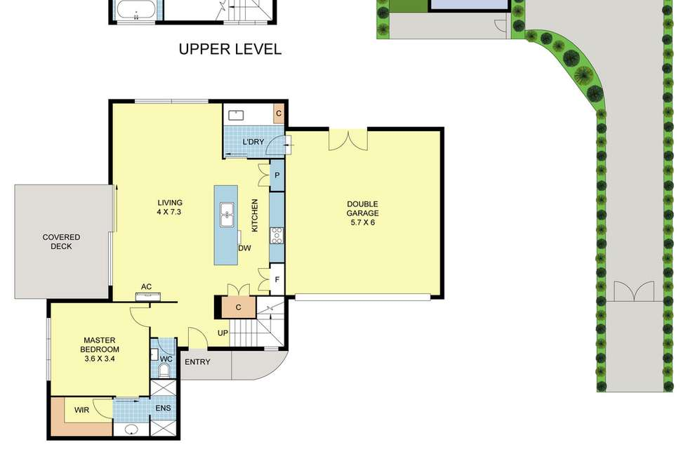 Floorplan of Homely townhouse listing, 6B Wrexham Road, Ferntree Gully VIC 3156