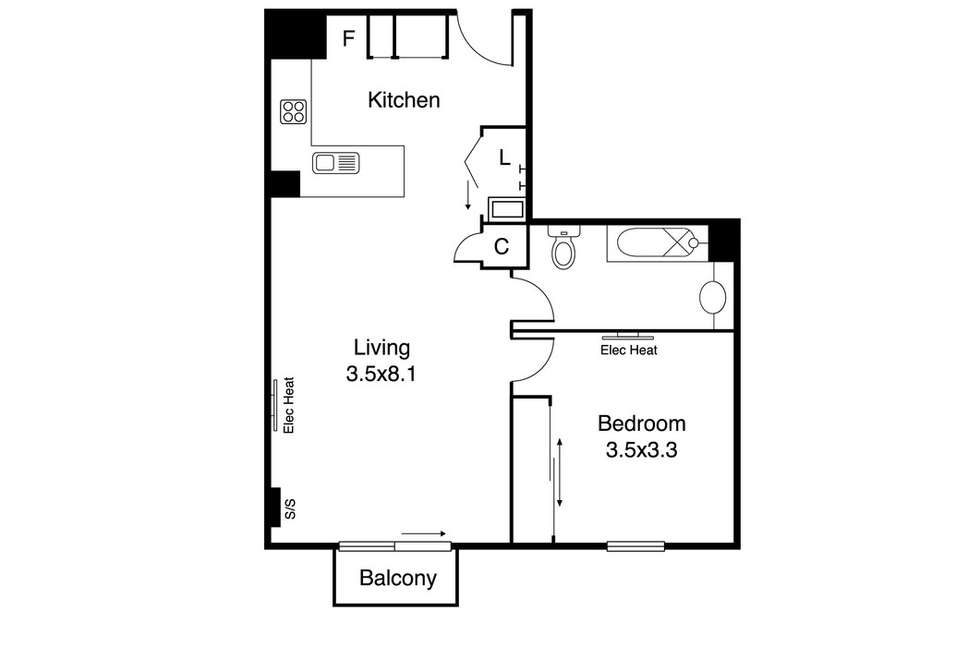 Floorplan of Homely apartment listing, 804/639 Lt Bourke Street, Melbourne VIC 3000