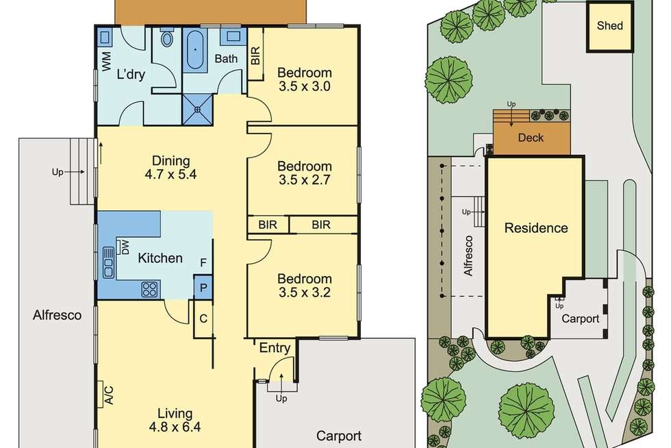 Floorplan of Homely house listing, 3 Ophelia Street, Ferntree Gully VIC 3156