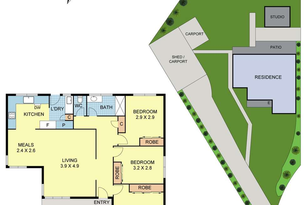 Floorplan of Homely house listing, 13 Anglo Court, Mooroolbark VIC 3138