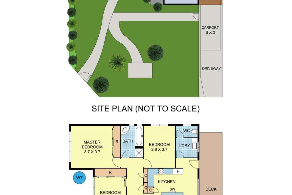 Floorplan of Homely house listing, 7 Diane Crescent, Mooroolbark VIC 3138