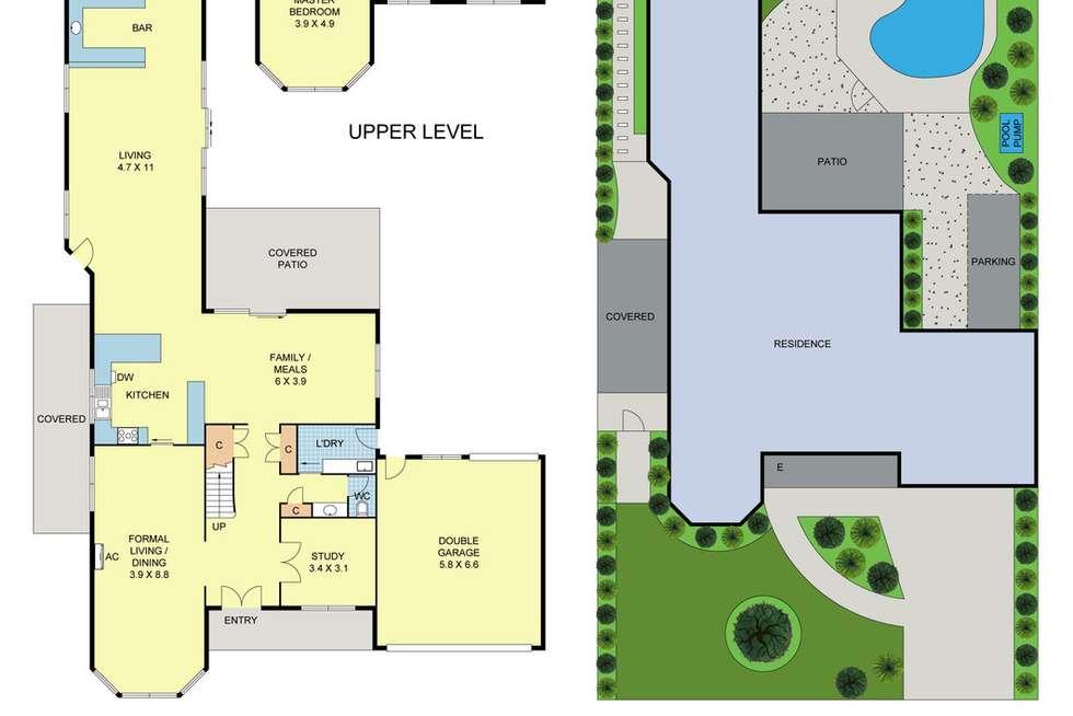 Floorplan of Homely house listing, 19 Blue Ridge Drive, Mooroolbark VIC 3138