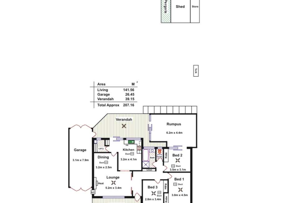 Floorplan of Homely house listing, 9 Coventry Drive, Athelstone SA 5076