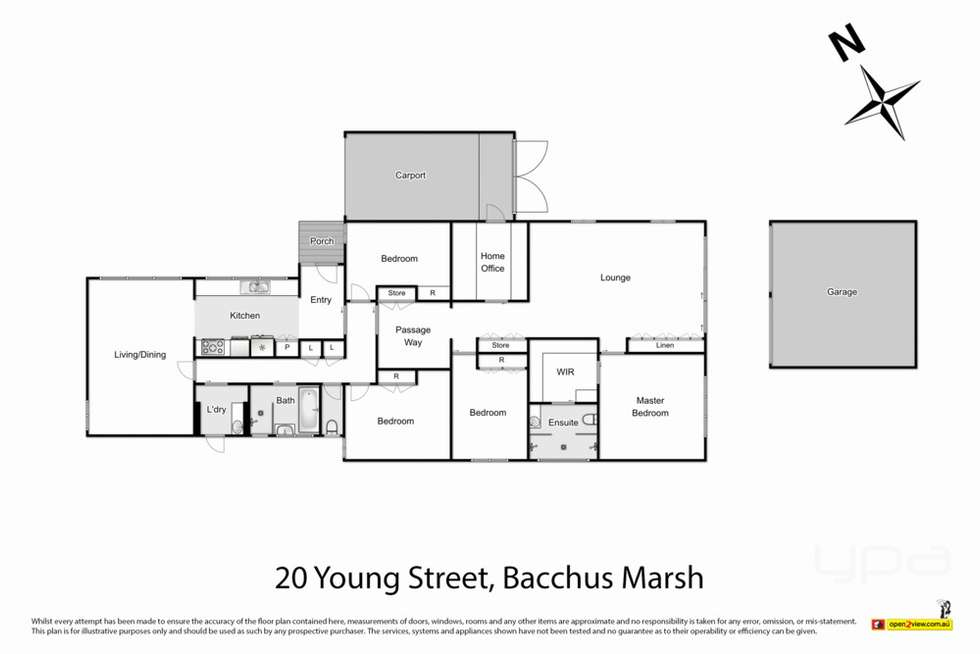 Floorplan of Homely house listing, 20 Young Street, Bacchus Marsh VIC 3340