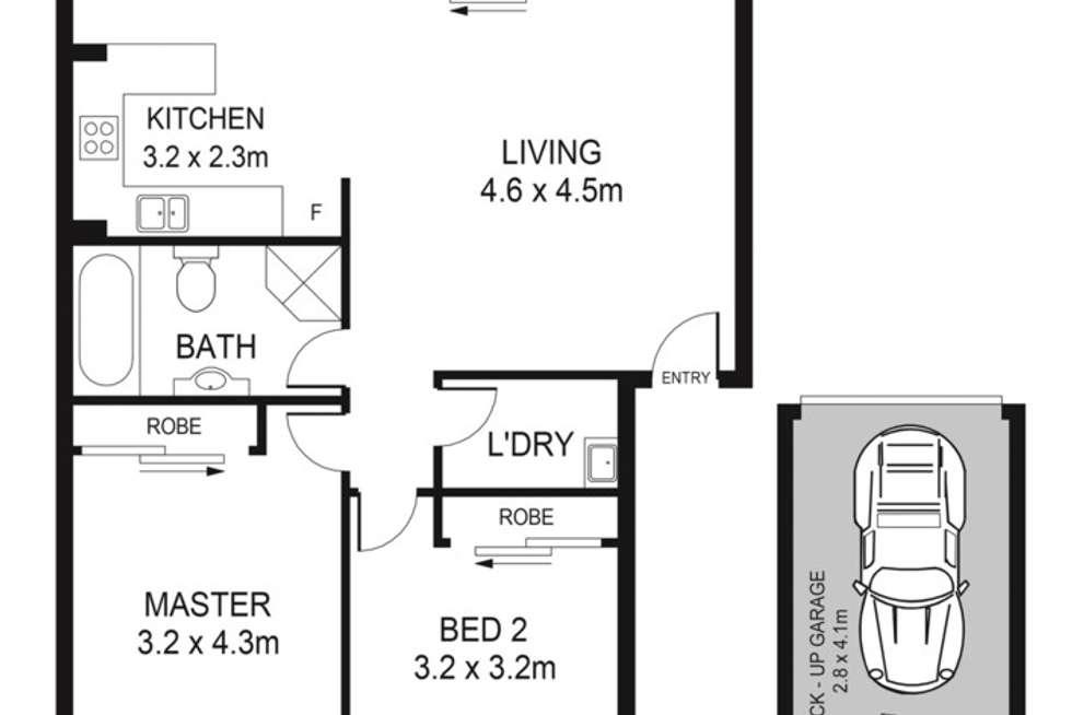 Floorplan of Homely unit listing, 7/3-7 O'Reilly Street, Parramatta NSW 2150