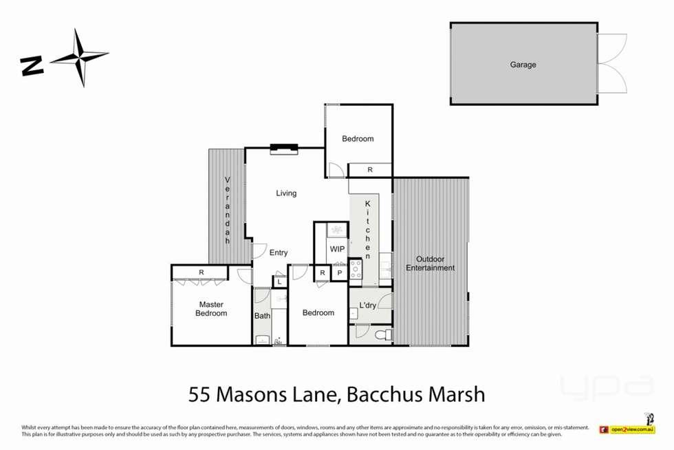 Floorplan of Homely house listing, 55 Masons Lane, Bacchus Marsh VIC 3340
