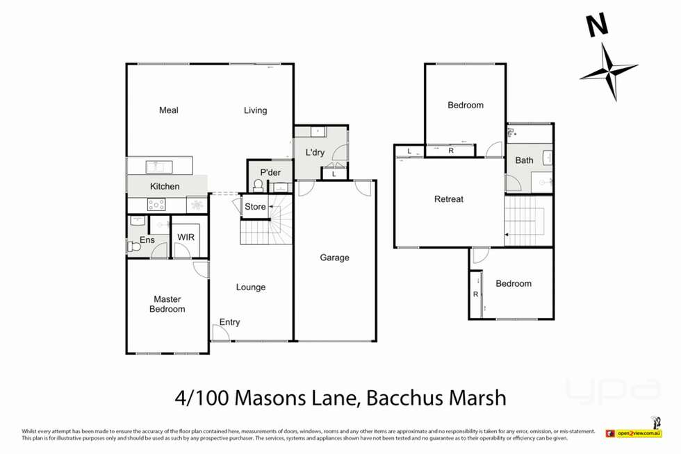Floorplan of Homely townhouse listing, 4/100 Masons Lane, Bacchus Marsh VIC 3340